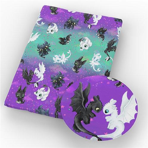 Dragon Tricks Pastel Fabric