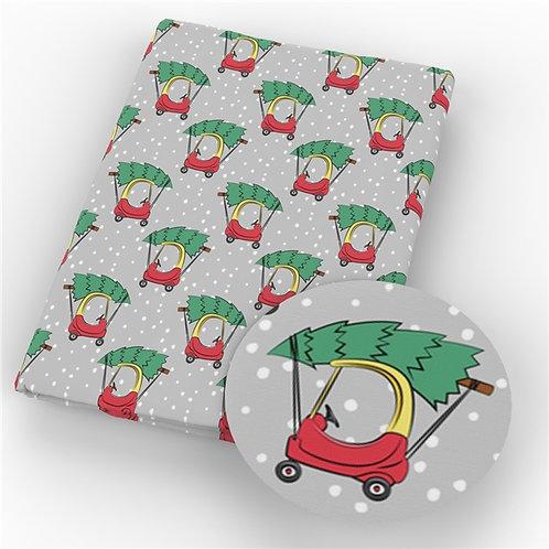 Christmas Coupe Car Fabric