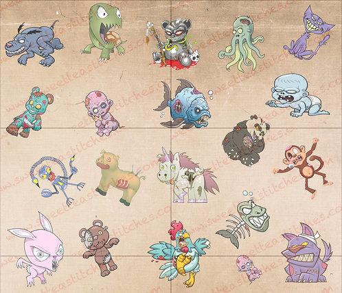 Zombie Pets Embroidery Vinyl