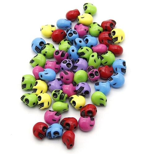 Skull Beads Random Color Packs