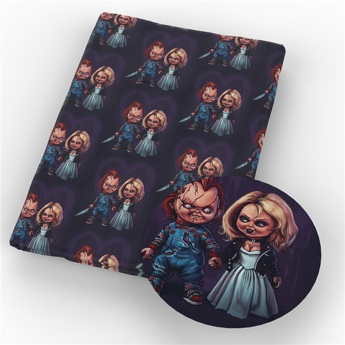 Creepy Dolls Wedding Fabric