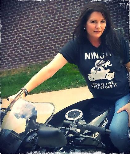 """Women's """"Ride it like you stole it"""" tee"""