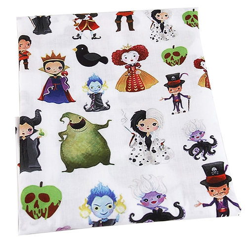 Villains White Fabric