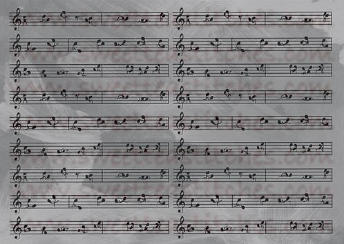 Nacho Mama's Music Gray Fabric