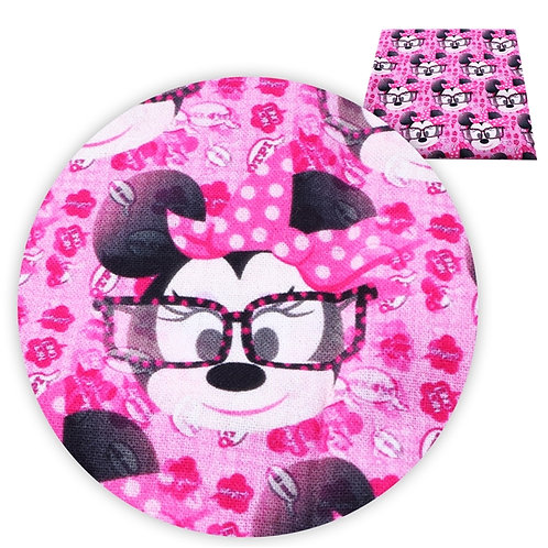 Mouse with Glasses Fabric