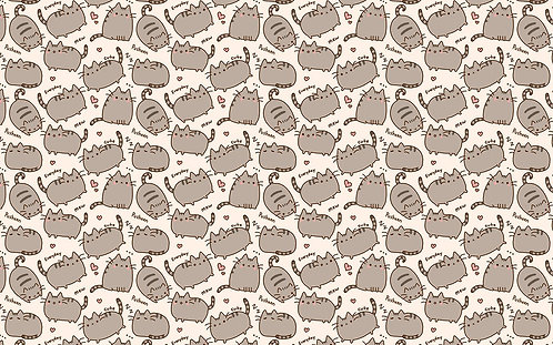 Cats - Emoji Cat Fabric