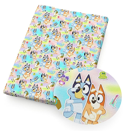 Dogs - Bluey Pastel Fabric