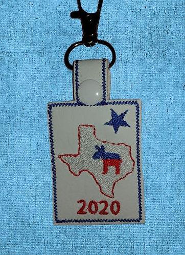 Texas Donkey Key Fob