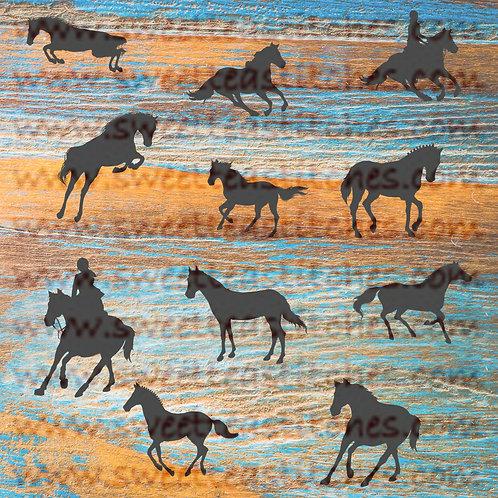 Horses Silhouette