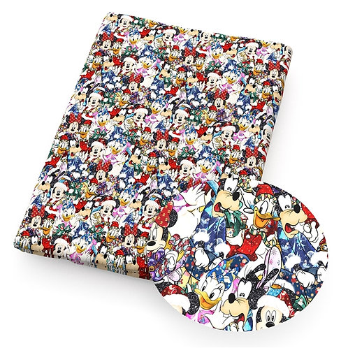 Christmas - Mouse Party Fabric