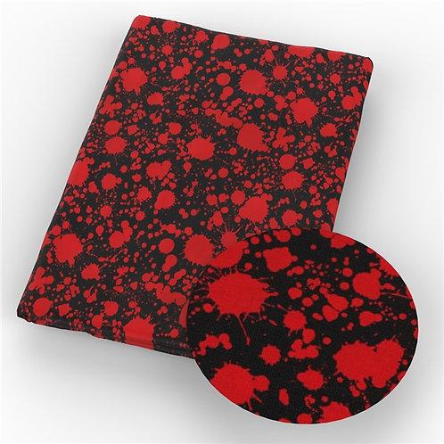 Blood Spatter Black Fabric