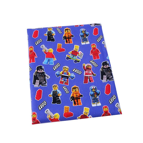 Blockheads Characters Blue Fabric