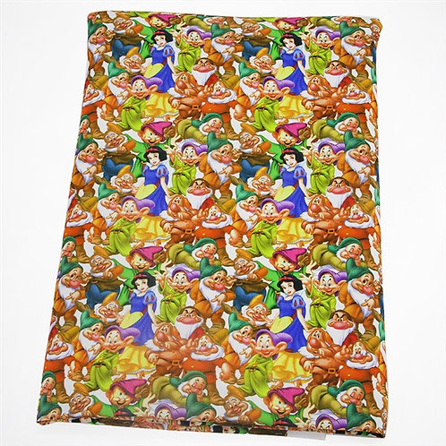 Princess and Her Seven Friends Fabric