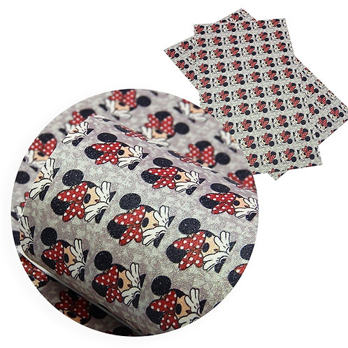Mouse Polka Dot Bow Fabric