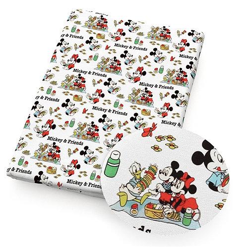 Mouse Gang Picnic Fabric