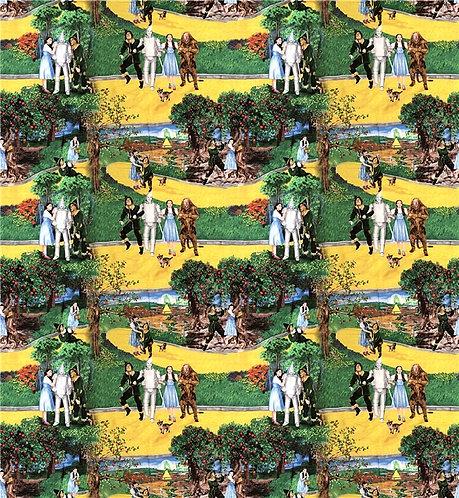 Yellow Brick Road Scene Fabric