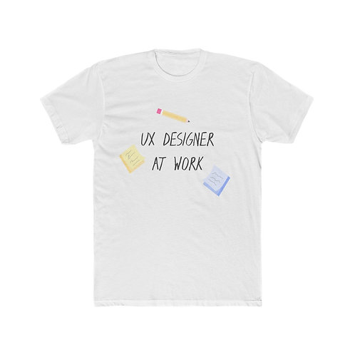 UX Designer At Work - Men's Cotton Crew Tee