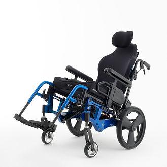 Liberty FT blue - left angle - with Axiom back and headrest - slight tilt.JPG