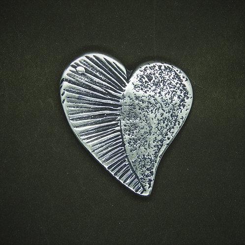 Herz Fantasie Maxi silber