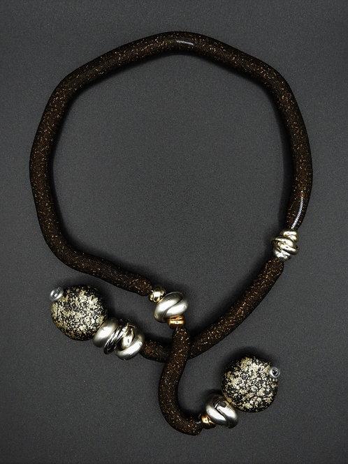 Halskette Crea Dunkel Braun