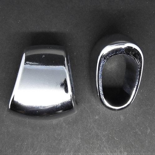 Biglia decorativa Trapezio argento lucido