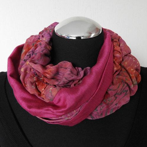 Collana di stoffa Luana fuchsia