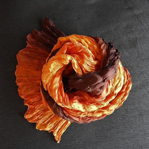 Seidencrash Orange-Braun