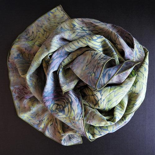 Sciarpa-Batik Verde