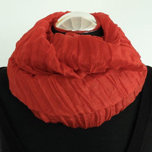 Sciarpa magica in seta rosso