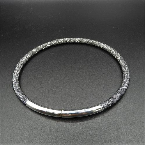 Halskette Glitzer anthrazit
