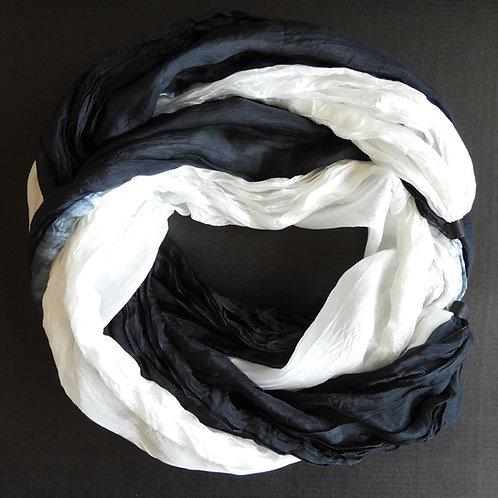 Seidenkette-Lang Schwarz-Weiss