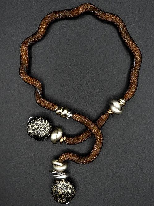 Halskette Crea Braun