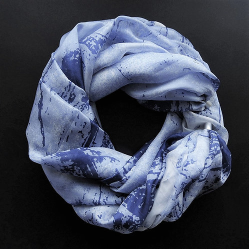 Collana di seta lunga Fantasie Jeans-Blu