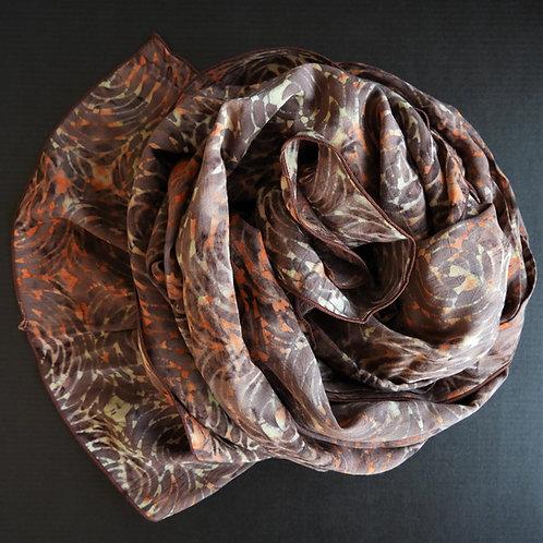 Batik-Schal Braun