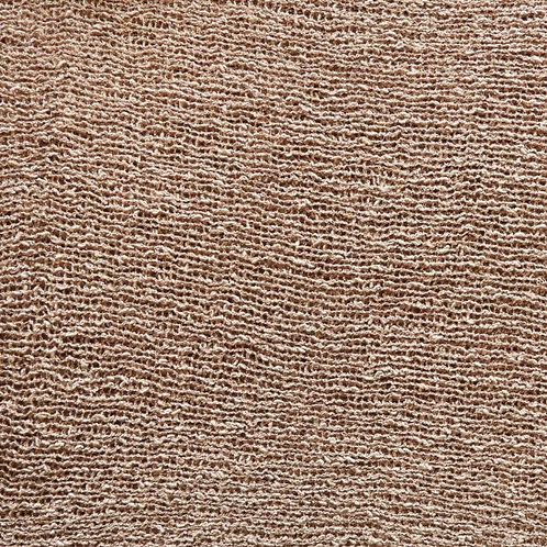Sciarpa rotonda in maglia beige