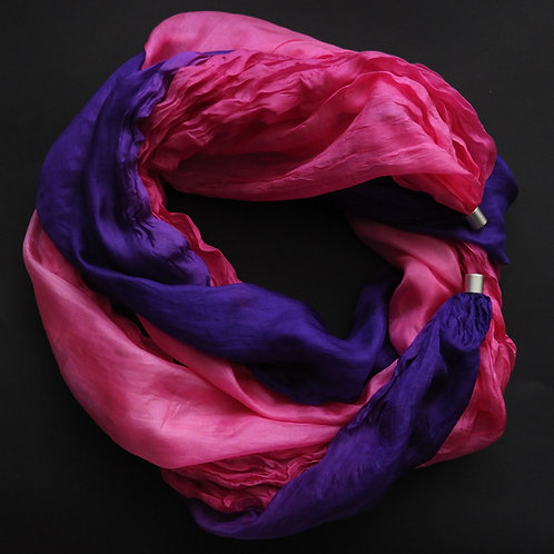 Seidenkette-Lang Pink-Violett