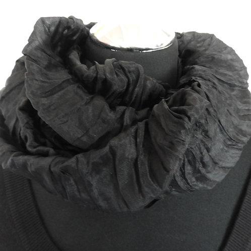 Sciarpa magica in seta nero