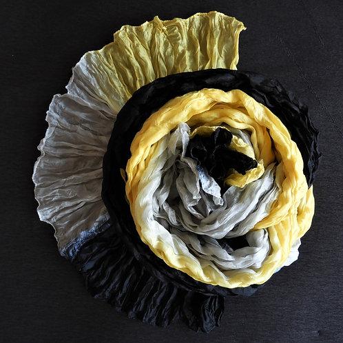 Seidencrash Schwarz-Hellgrau-Gelb