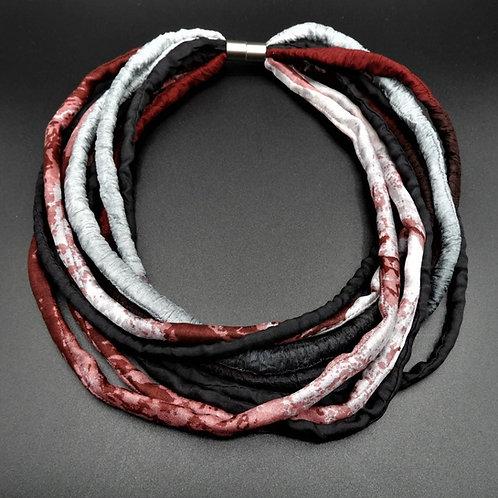 Seidenschnurkette bordeaux 57cm