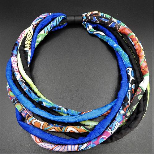 Seidenschnurkette multicolor 58cm