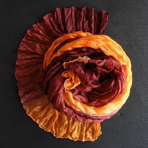 Seidencrash Orange-Bordeaux