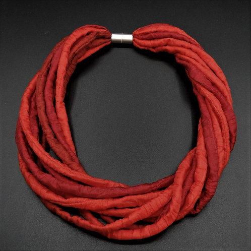 Seidenschnurkette rot 58cm