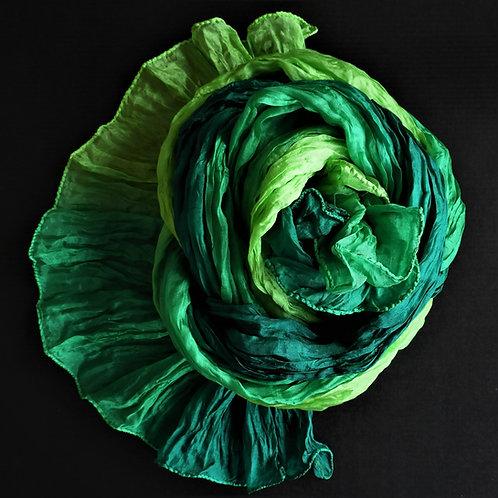 Seidencrash Hellgrün-Dunkelgrün
