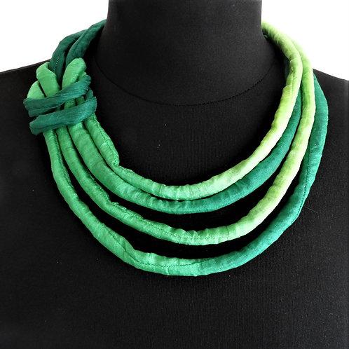 Collana di seta Pauline verde  53cm