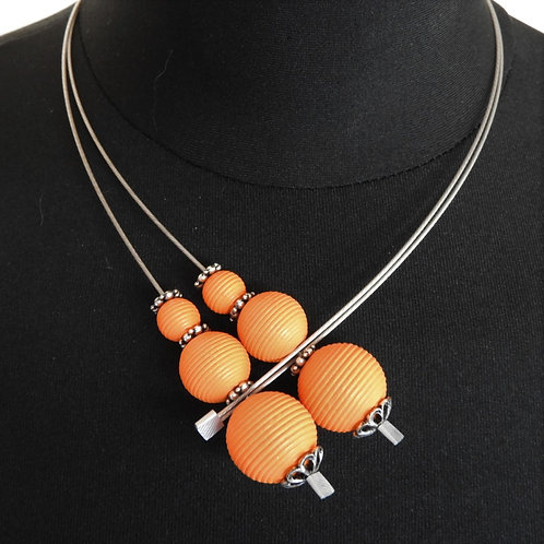 Halskette Liliane 48cm Rille  orange