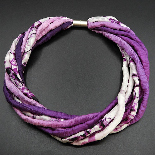 Seidenschnurkette viola 57cm