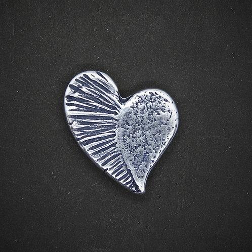 Herz Fantasie Mini silber