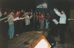 Ward Swingle Choral Workshop Graz 1991.j