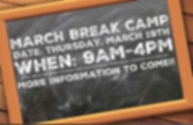 🚨 🚨 MARCH BREAK FULL-DAY CAMP 🚨 🚨 Th