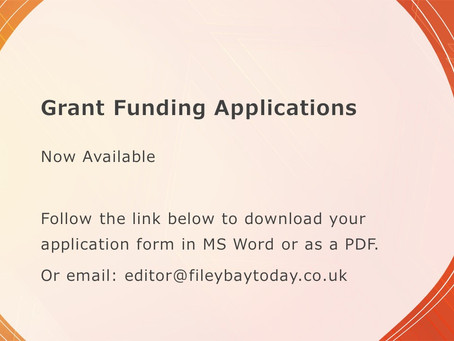 Filey Bay Today Grant Scheme - APPLICATIONS OPEN!